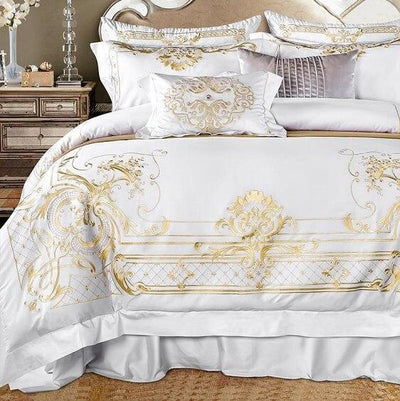 Royal White Egyptian Cotton Duvet Bedding Set - at´creative
