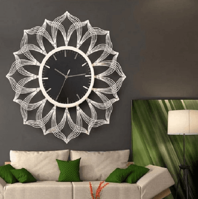 Sacha - Large Silent Modern Clock - Atcreative