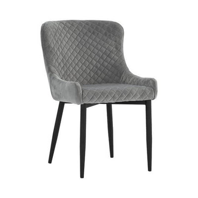 Saskia - Gray Dining Chair - Atcreative