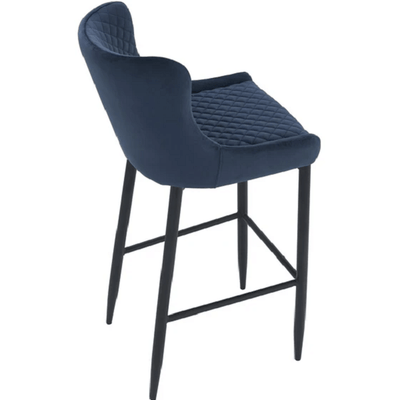 Saskia - Navy Blue Bar Stool - Atcreative