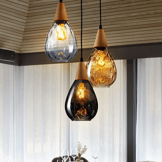 Sergia - Modern Nordic Drop Glass Pendant Lamp - at´creative