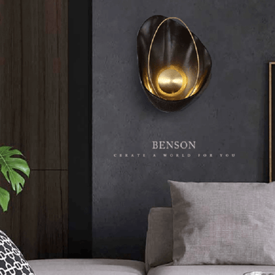 Shell Shape Brass Wall Light - Atcreative