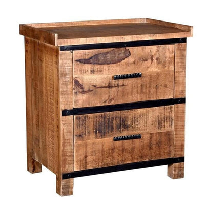 Sneha - 2 Drawer Bedside Table - Atcreative