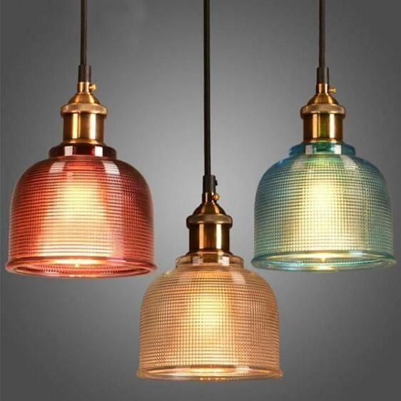 Sosie - Retro European Color Glass Pendant Light - at´creative