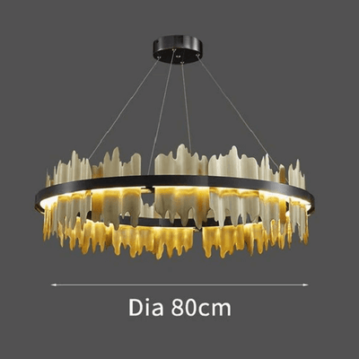 Spacestation Flush Mount Copper Multi-Level Chandelier - Atcreative