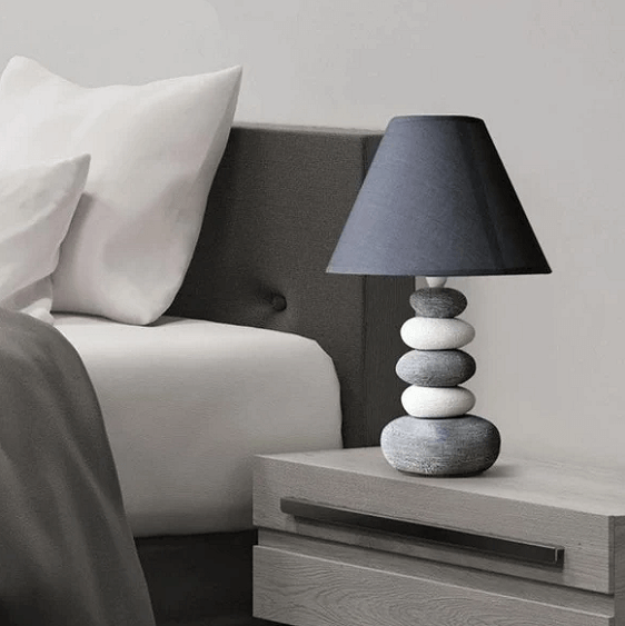 Stonia - Modern Ceramic Stone Pile Lamp - Atcreative