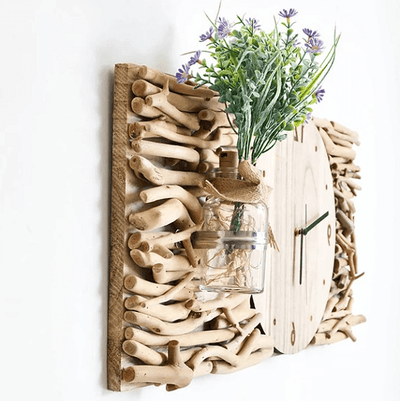 Tempo - Modern Wooden Clock & Vase - Atcreative