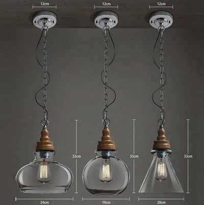 Thalia - Clear Glass Vintage Antique Hanging Light - Atcreative