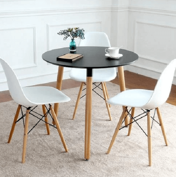 Thia - Modern Nordic Wooden Leg Round Table