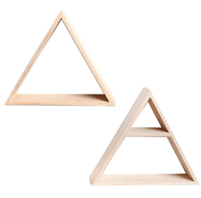 Wooden Triangle Shelf - Atcreative