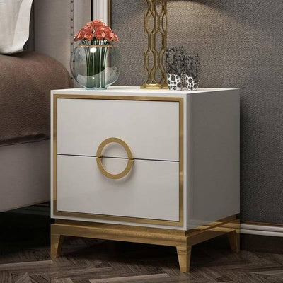 Zayden - Two Drawer Modern Nightstand - Atcreative