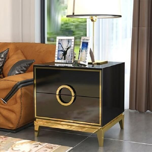 Zayden - Two Drawer Modern Nightstand - at´creative