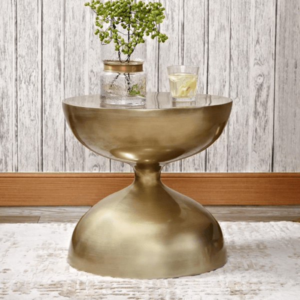 Zephyr - Modern Hourglass Accent Side Table - Atcreative