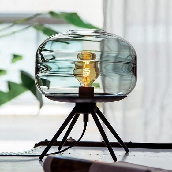 Adler - Glass Dome Table Lamp - Atcreative