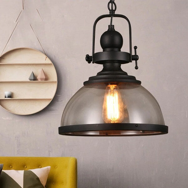 Gre - Industrial Glass Pendant Light