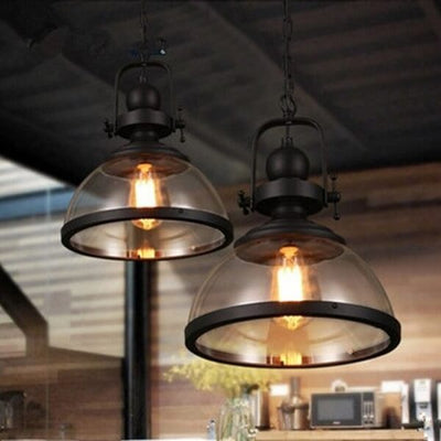 Gre - Industrial Glass Pendant Light - Atcreative