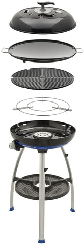 cadac grill barbecue gas camping campeggio outdoor cooking paella