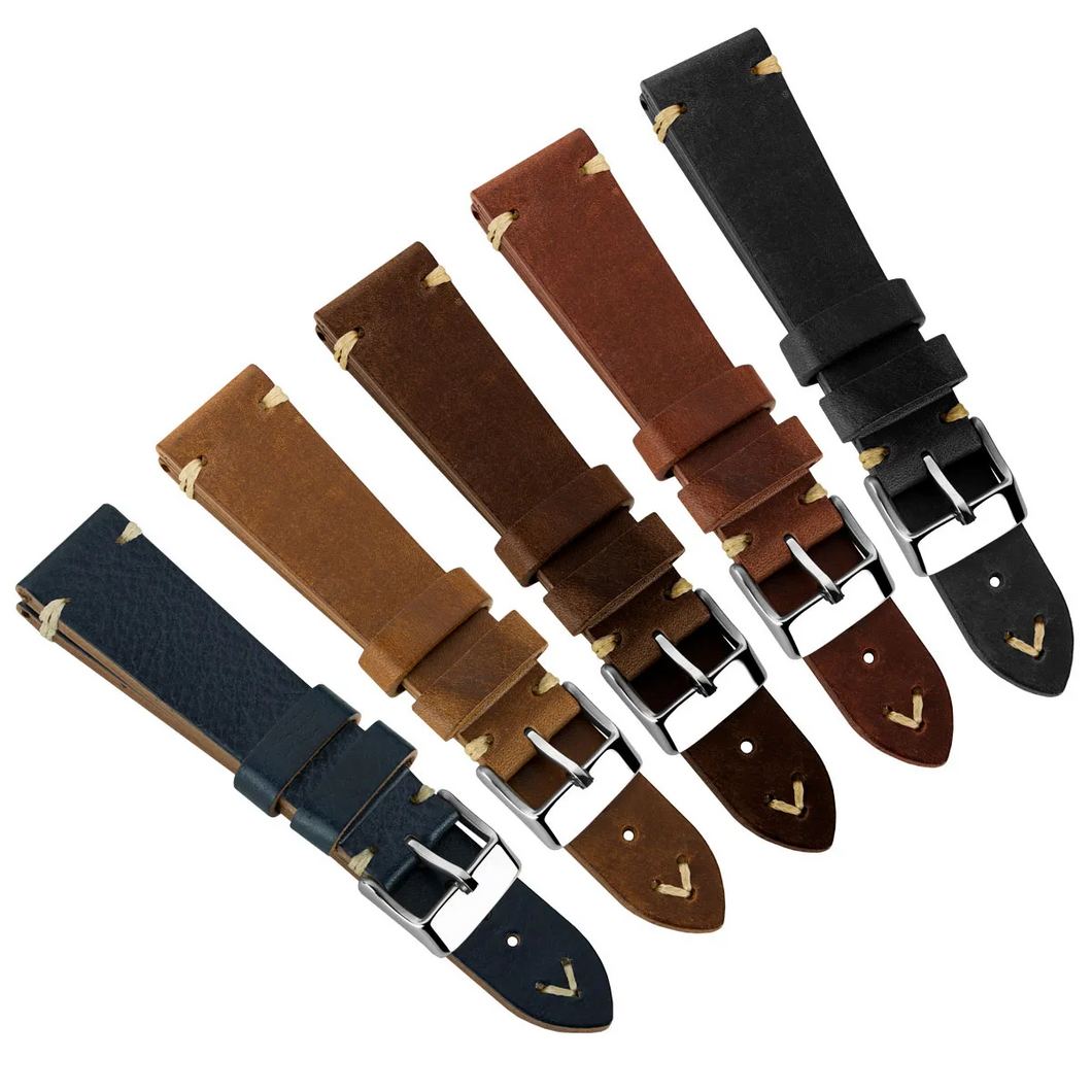 Simple Handmade Italian Leather Watch Strap