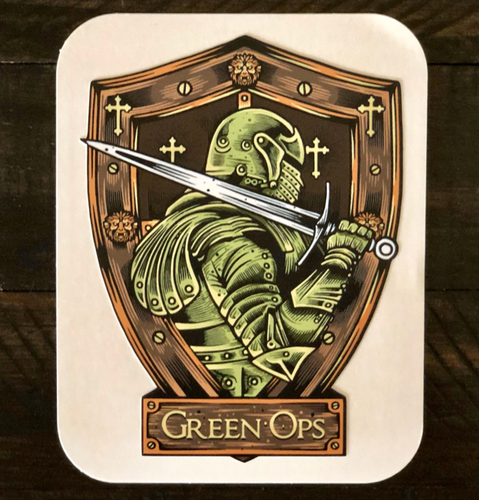 Sticker Green Ops Sword