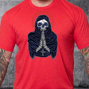 T-shirt Death Preys Red White & Blue