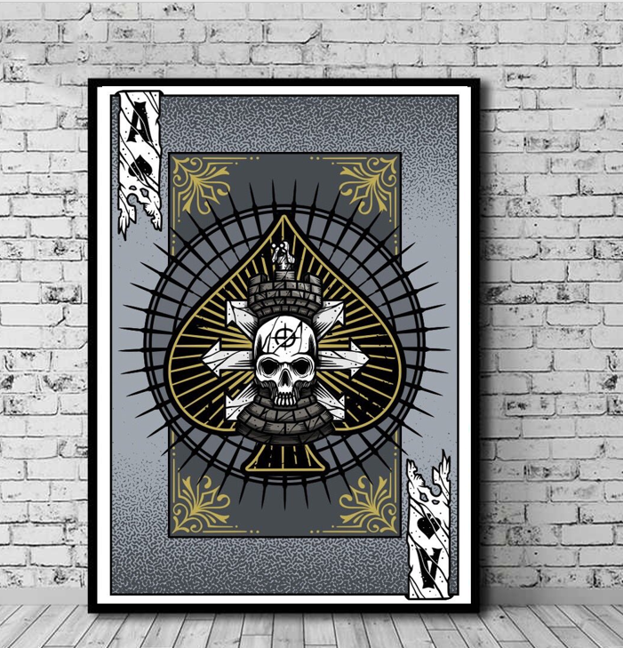 Art Playing Card: Ace