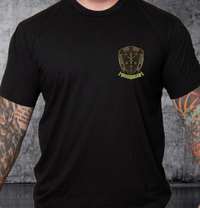 T-shirt Green Ops Knight with Sword Black
