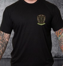 Load image into Gallery viewer, T-shirt Green Ops Knight with Rifle Black