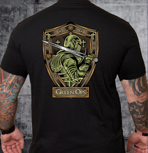 Load image into Gallery viewer, T-shirt Green Ops Knight with Sword Black