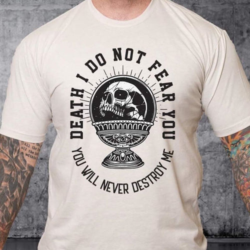 T-shirt I Do Not Fear You - Black Words over Color