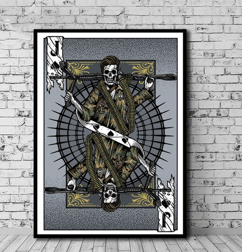 Art Playing Card: Marine Gunner Jack
