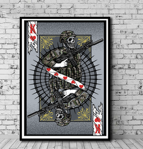 Art Playing Card: Warrior King