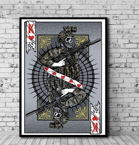 Art Playing Card: The Unit, Operator; Warrior King