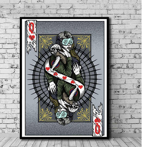 Art Playing Card: Jet Fighter Queen