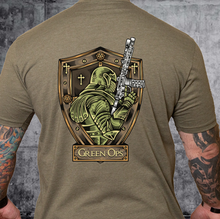 Load image into Gallery viewer, T-shirt Green Ops Knight with Rifle Olive