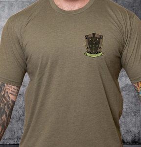 T-shirt Green Ops Knight with Pistol Olive