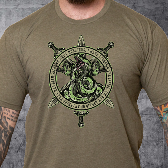 T-Shirt We Fight Monsters Green Hydra