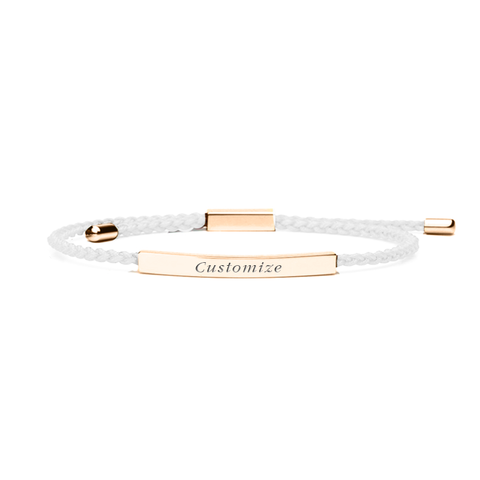 Promesse Cuff in Rose Gold, White Feather
