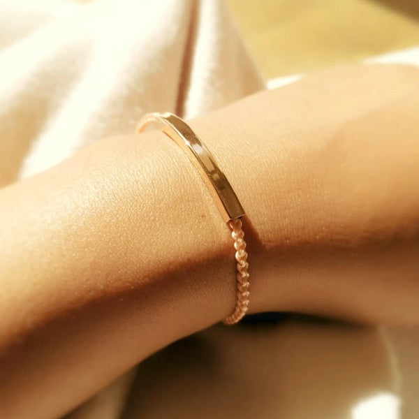 Promesse Cuff in Rose Gold, French Rose