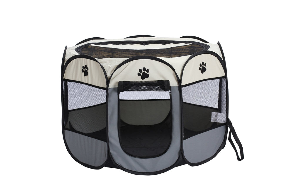 Portable Pet Playpen and Exercise Pen Tent House Playground for Dogs and Cats - Paw Huggies