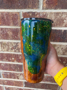 Wood and geode tumbler