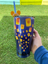 Load image into Gallery viewer, Rapunzel glitter tumbler