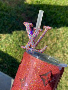Louis Vuitton straw topper
