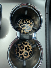 Load image into Gallery viewer, Cheetah print Car coasters