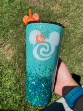 Load image into Gallery viewer, Moana Inspired Glitter Tumbler