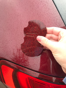 Car coasters Maroon Glitter