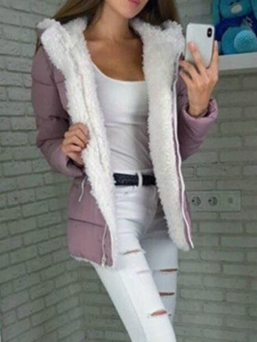 Casual Long Sleeve Cotton Outerwear