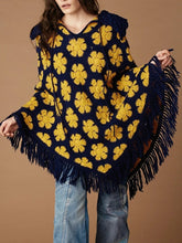 Load image into Gallery viewer, A-Line Floral Boho Cape Outerwear