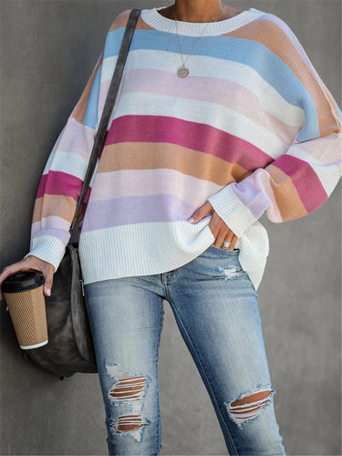 As Picture Knitted Casual Long Sleeve Shirts & Tops