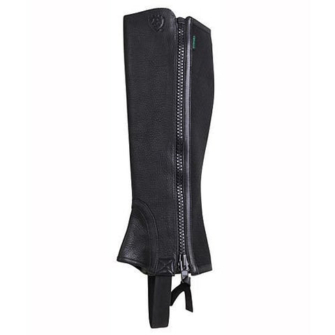 Ariat Youth Breeze Half Chaps- Black - Vision Saddlery