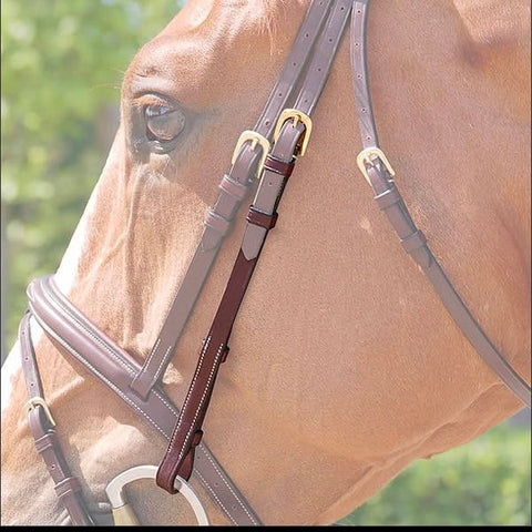 Dy'on Cheek Pieces - Vision Saddlery